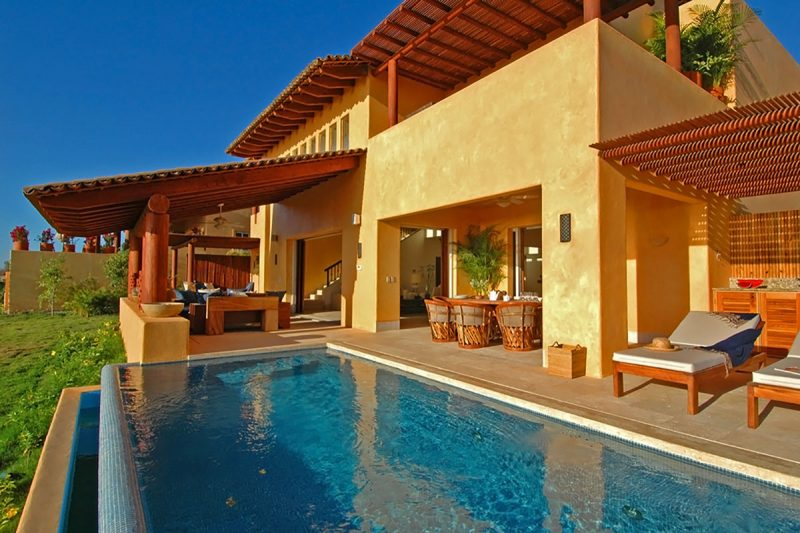 punta mita two stories villa with unique panoramic ocean views 4 bedrooms 45 bathrooms infinity edge heated plunge pool with venetian tile fully